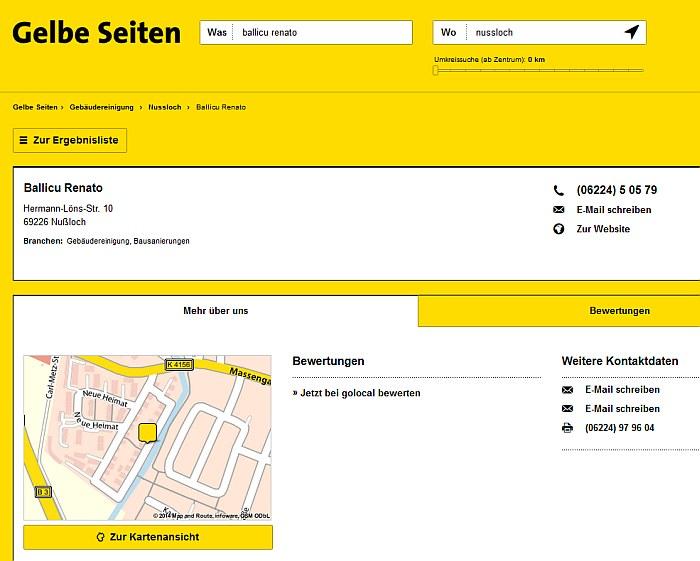 Gelbe Seiten Gebäudereinigung